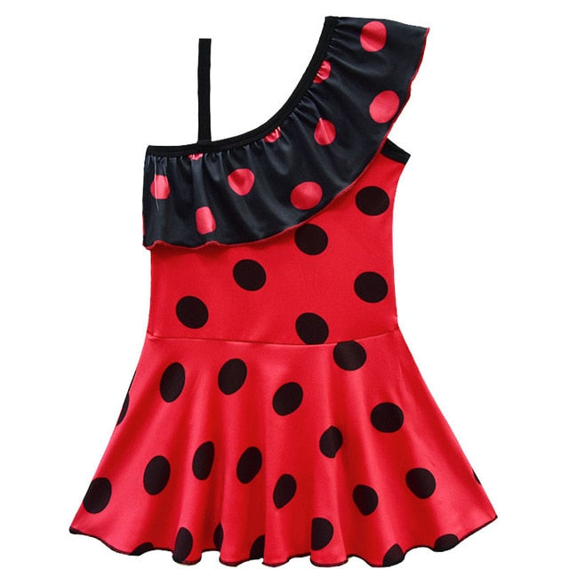 Ladybug Girls Bathing Suit Swimming dresses Baby Girl Bikini Children Swim wear Kids Vaiana Beach Dress toddler clothes lady bug