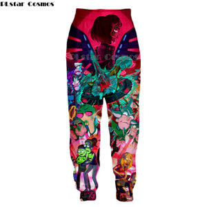PLstar Cosmos 2019 New Fashion trousers Mens Womens casual Pants Cartoon rick and morty 3D Print joggers Pants Drop shipping