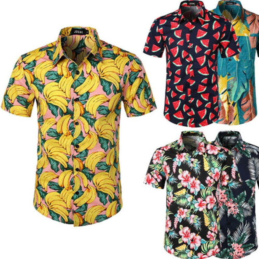 Hawaiian Shirt Camisa Masculina Men Hawaiian Shirt Chemise Homme Camisas Hombre Beach Hawaii Aloha Party Summer Holiday Betis
