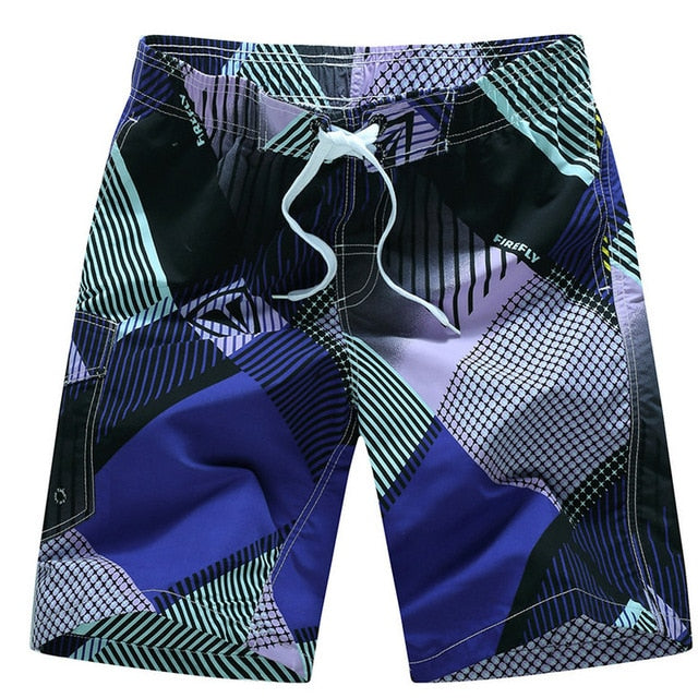 2019 Summer Hot Men Beach Shorts Quick Dry Printing Board Shorts Men Bermuda Masculina