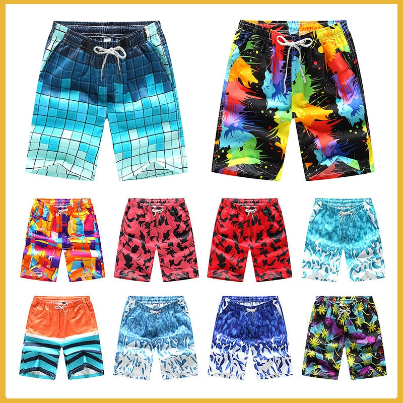 New Summer Wholesale Men Beach Board Shorts Swimwear Swimming Trunks Male Surfing Swim Shorts High Quality Breathable Shorts