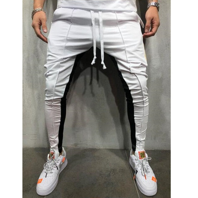 New Autumn Men casual Slim Fit Pants tracksuit bottoms Stiped joggers thinness Long Sweat Pants