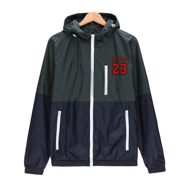 Windbreaker Men Lightweight military jacket herren 2019 casual Hooded Contrast Color Zipper Windproof waterproof Outwear ADI
