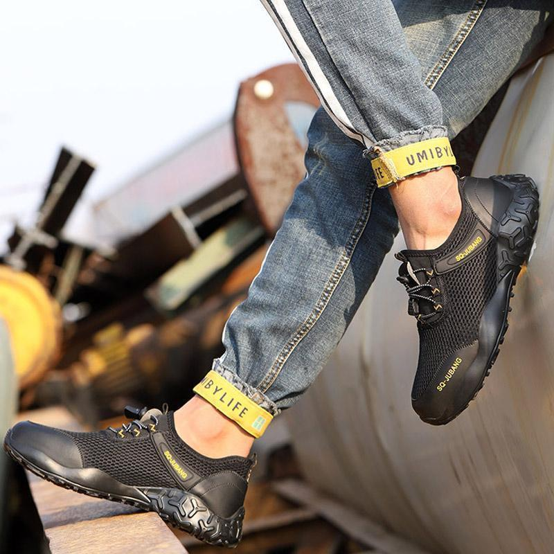 Summer Lightweight Breathable Non-Slip Work Safety Shoes