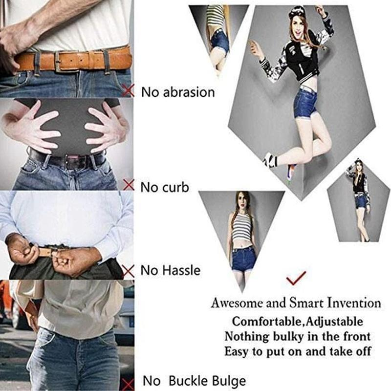 Buckle-free Invisible Elastic Waist Belts