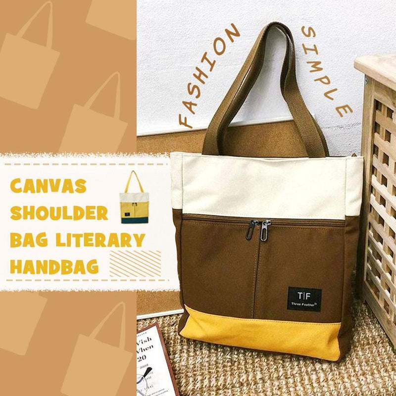 Canvas Shoulder Bag Literary Handbag