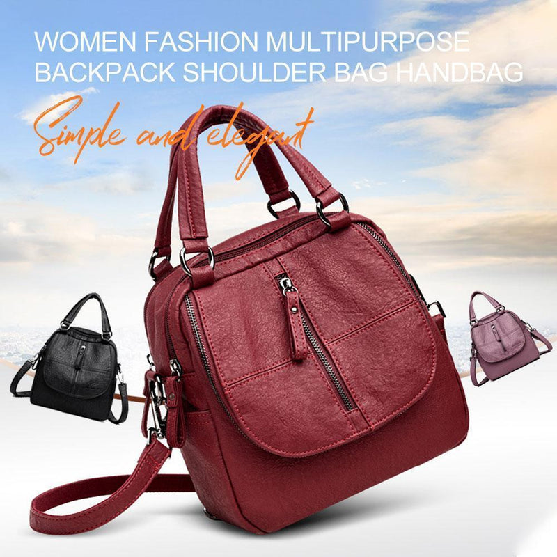 Women Fashion Multipurpose Backpack Shoulder bag Handbag