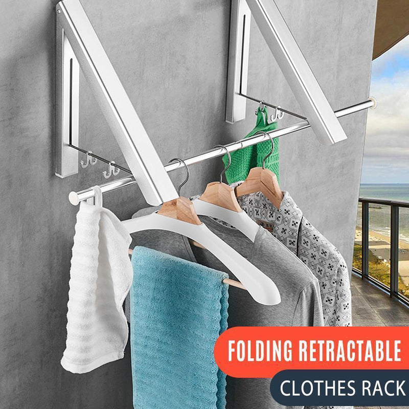 Folding Retractable Clothes Rack
