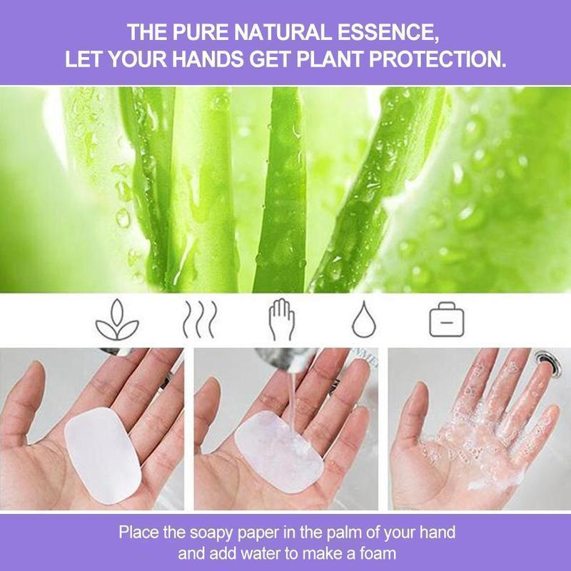 Portable Hand-Washing Paper 5 boxes(100PCS)