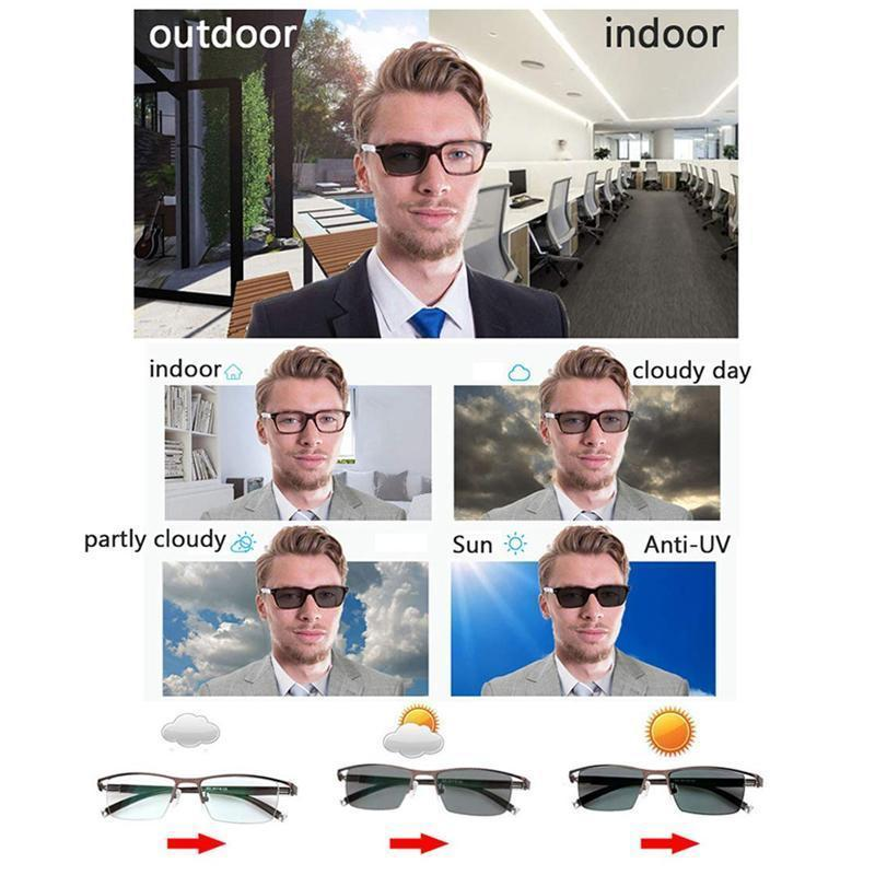 Intelligent Discoloration Myopia Glasses