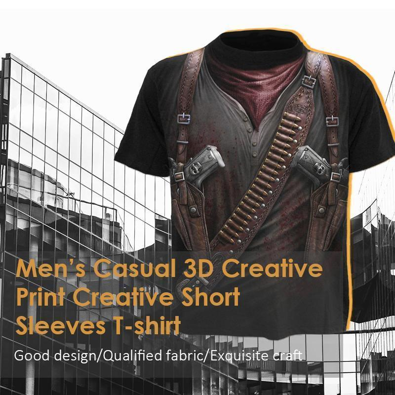 3D Creative Printed Short Sleeves T-shirt