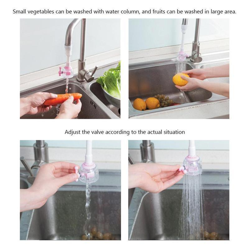 Faucet Nozzle splash prevention and water saving