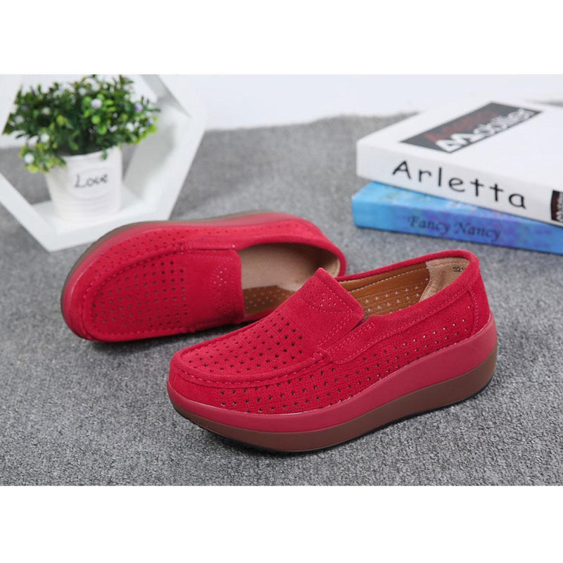 Womens Slip On Hollow Out Loafers