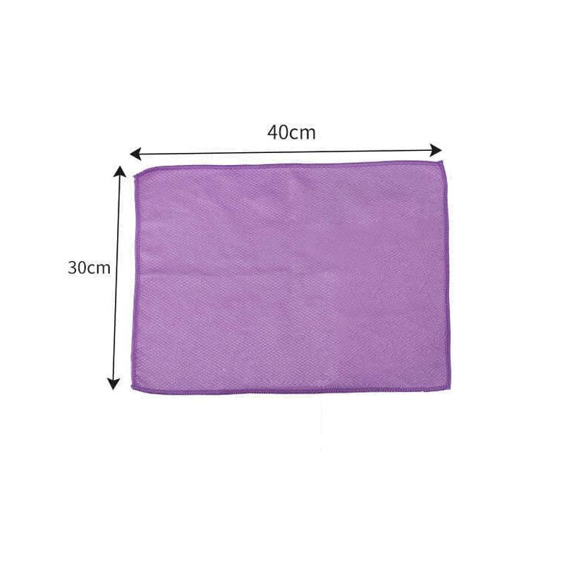 Fish Scale Microfiber Polishing Cleaning Cloth 5 Pcs