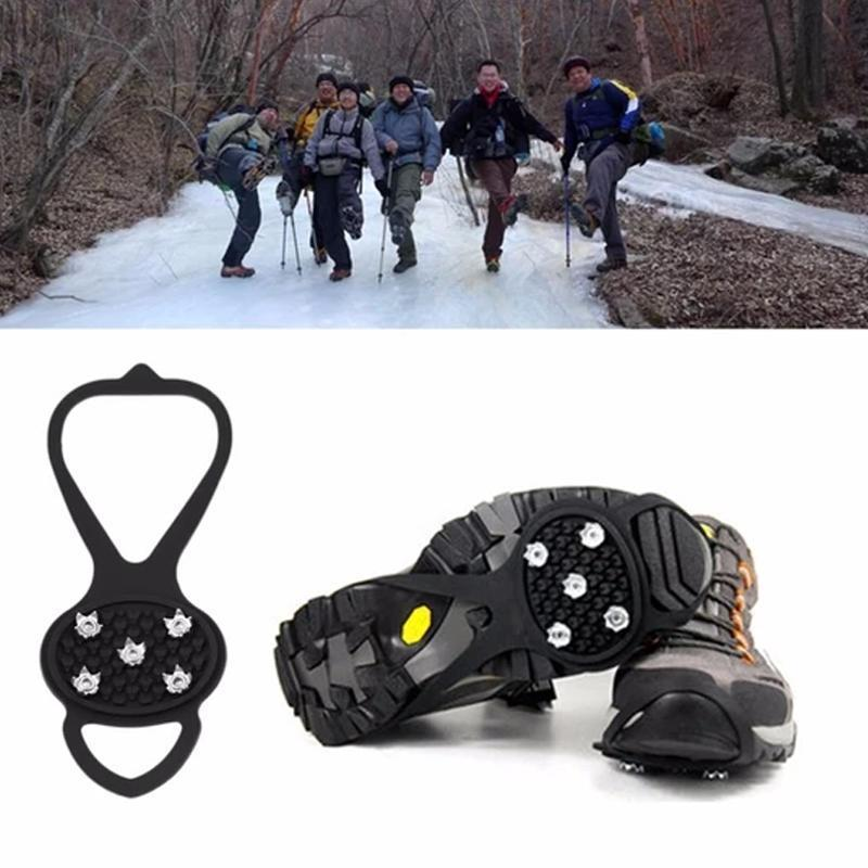 10 teeth crampons, non-slip shoe cover, 1 pair