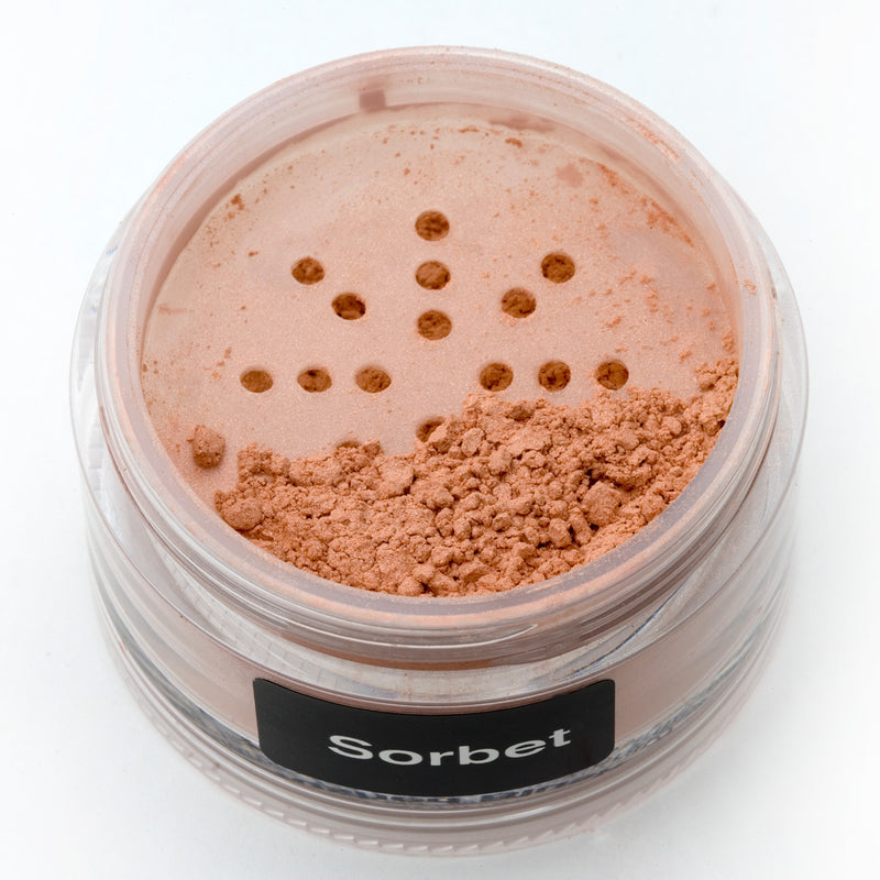 Crushed Blush in 2 gram Flat Shaker Jar in Sorbet