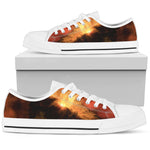 Fire in the sky - White Sole Low Top Canvas Shoe