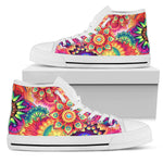 Be The Spark - White Sole High Top Canvas Shoes