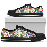 Chasing Butterflies - Black Sole Low Top Canvas Shoes