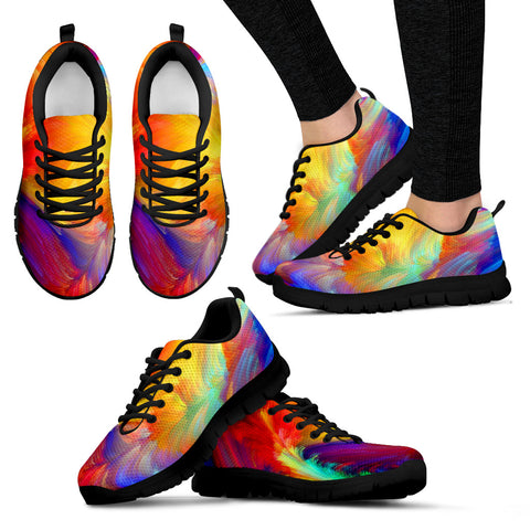 Colorful - Black Sole Sneakers