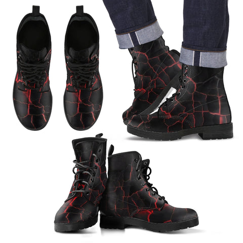 Cracked Lava Leather Boots