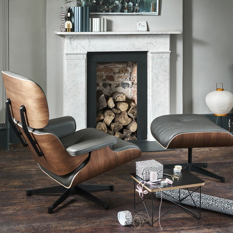 Eames Lounge Chair & Ottoman - Black Pigmented Walnut - Classic Dimensions