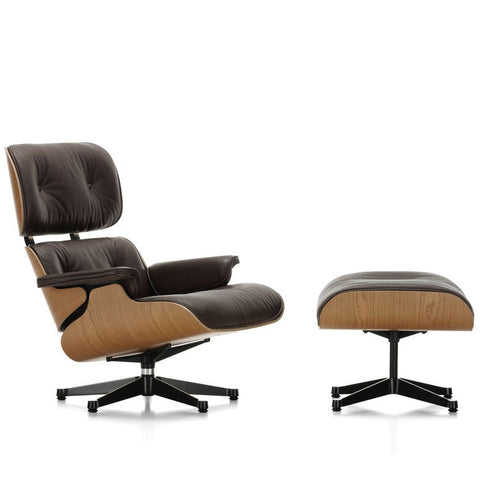 Eames Lounge Chair & Ottoman - American Cherry - Classic Dimensions