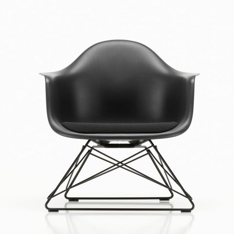 Eames Plastic Armchair LAR with seat upholstery