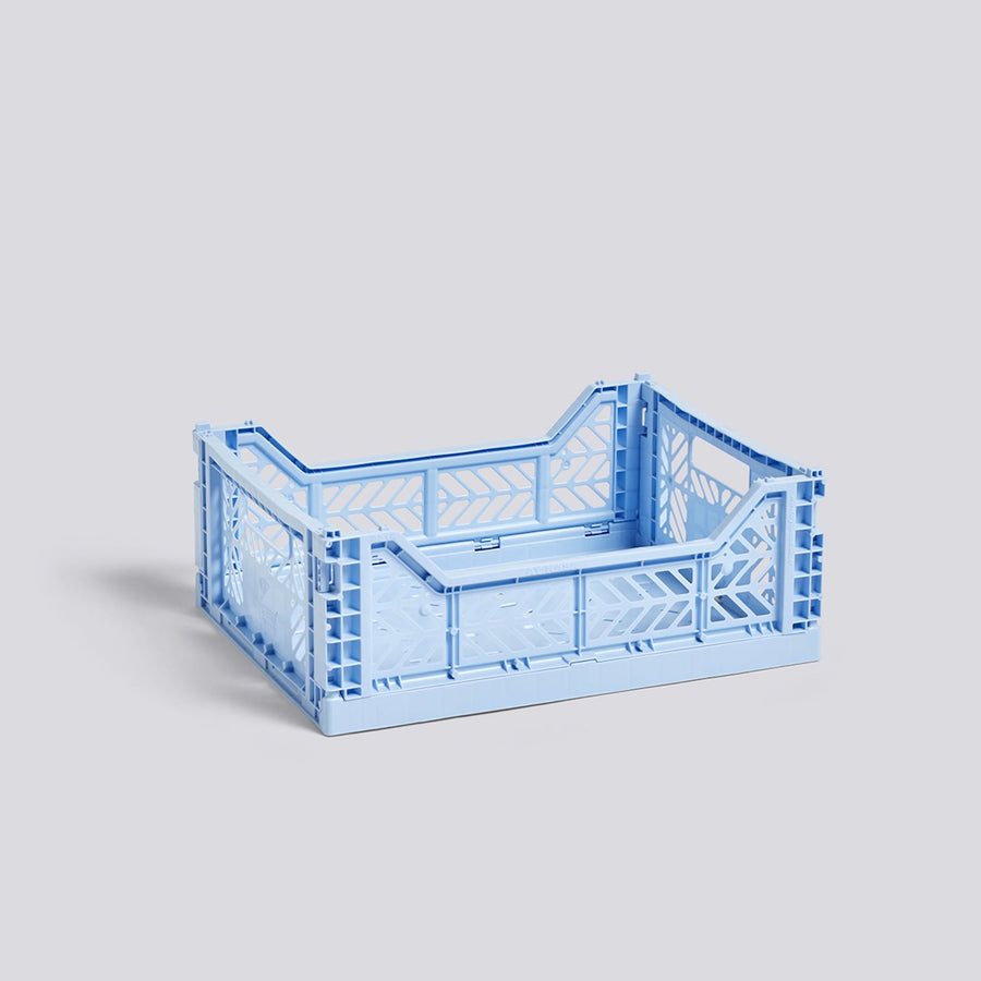 Light Blue Colour Crate Medium