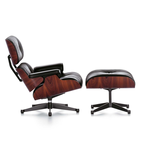 Eames Lounge Chair & Ottoman - Santos Palisander - New Large Dimensions