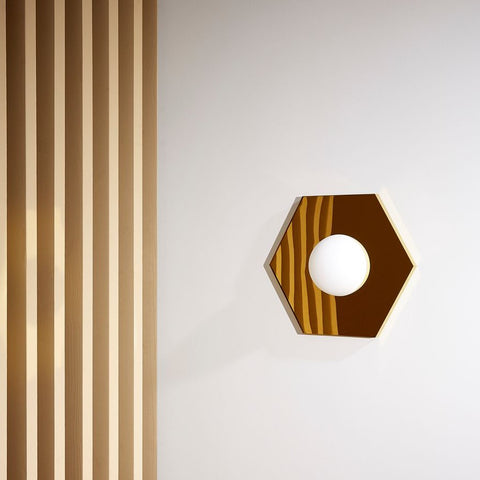 Holo Wall / Ceiling Light Hexagon Brass