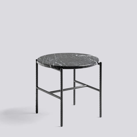 Rebar Round Side Table Marble