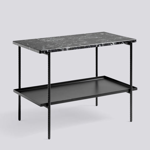 Rebar Side Table Marble W75 x D44 x H55cm
