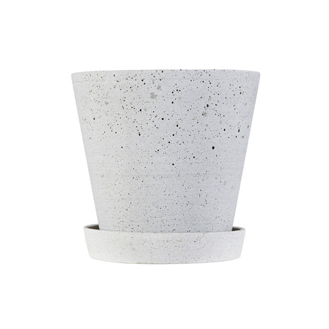 Flowerpot with Saucer Medium Grey