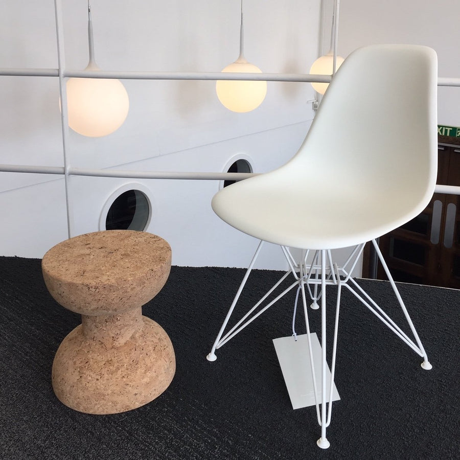 SALE Eames Plastic Side Chair DSR - White / White Base