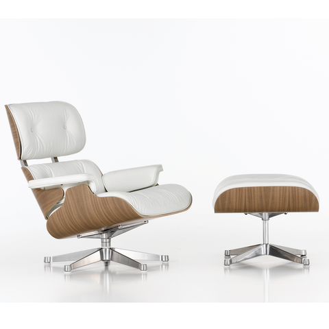Eames Lounge Chair & Ottoman White Edition