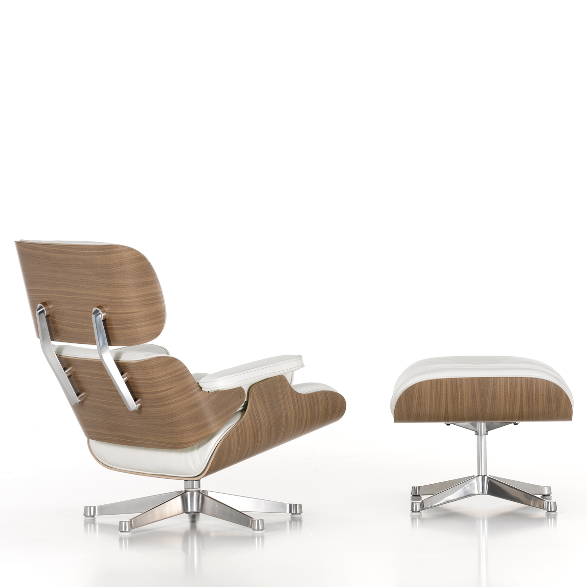 Eames lounge chair ottoman white edition tojo for Charles eames lounge chair nachbildung