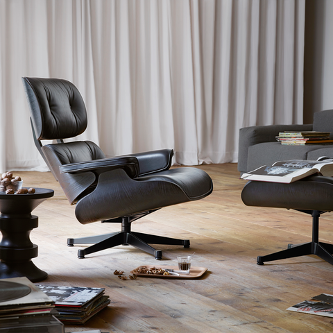 Eames Lounge Chair & Ottoman - Black Ash - New Large Dimensions