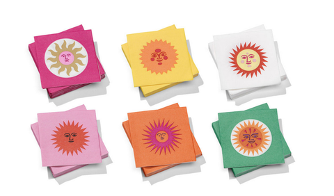 Girard Paper Napkins - Small, La Fonda Sun orange rose