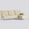 Pandarine 3 Seater Chaise Longue Cylindrical Armrest Right