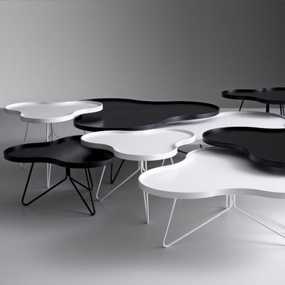 Flower Mono Table Ash White