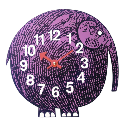 Elihu the Elephant Wall Clock