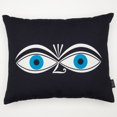 Eyes Graphic Print Cushion