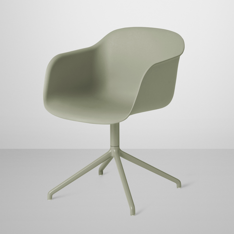Fiber Armchair - Swivel Base Normal Shell
