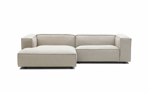 Dunbar Sofa: with 1.5 Seat Arm Right & Divan Arm Left