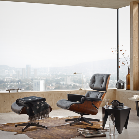 Eames Lounge Chair & Ottoman - American Cherry - New Large Dimensions