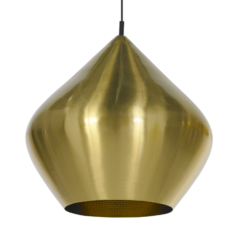 Beat Stout Brass Pendant