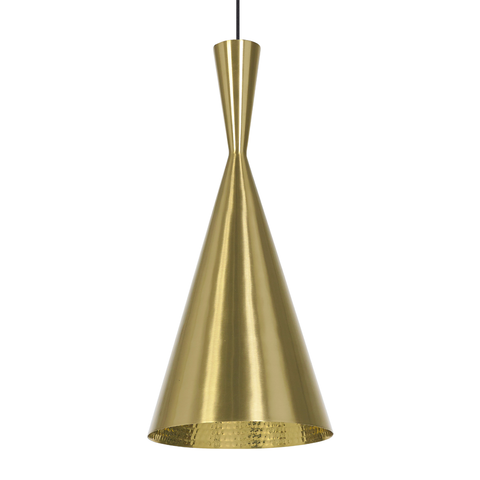 Beat Tall Brass Pendant