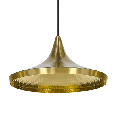 Beat Wide Brass Pendant