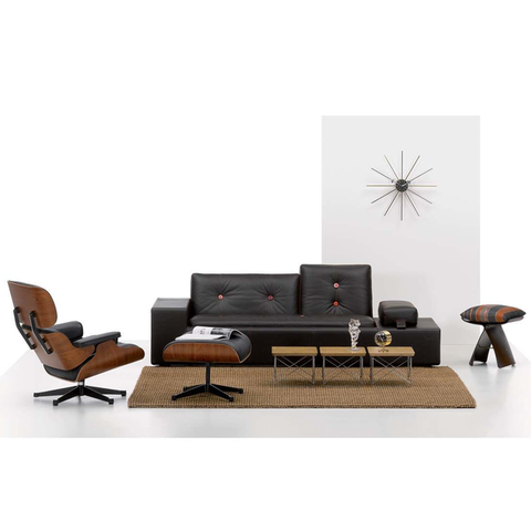 Eames Lounge Chair & Ottoman - Black Pigmented Walnut - New Large Dimensions